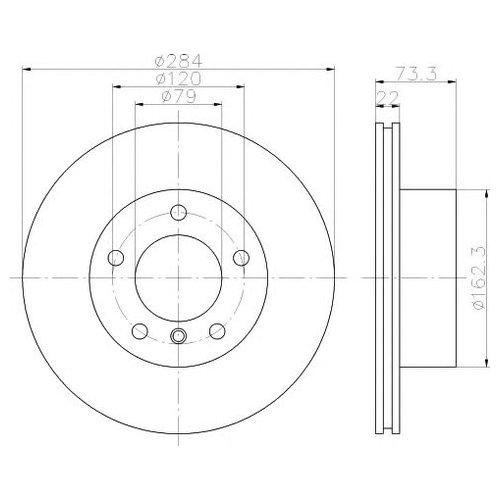 Hella 8DD 355 118-031 Тормозной диск