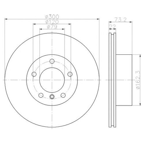 Hella 8DD 355 118-041 Тормозной диск