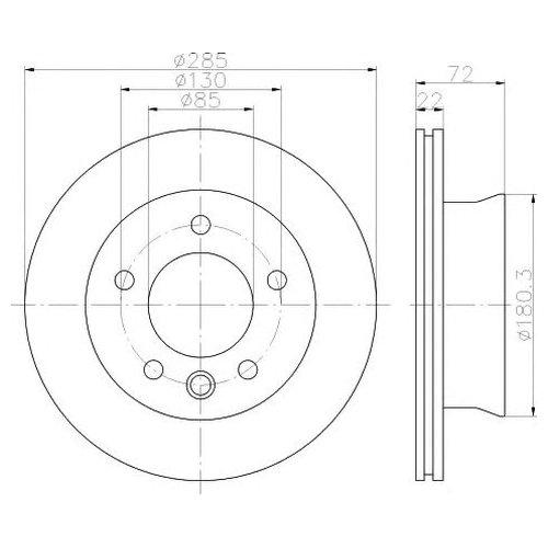 Hella 8DD 355 118-051 Тормозной диск