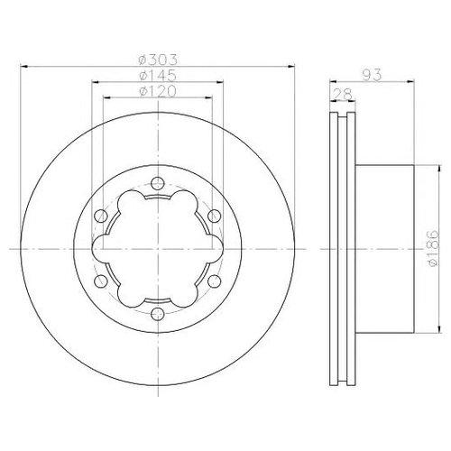 Hella 8DD 355 118-061 Тормозной диск